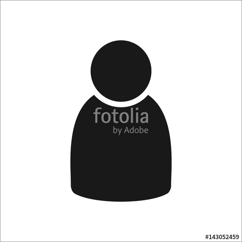 500x500 User Web Simple , Silhouette Icon On Background Stock Image
