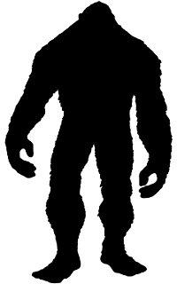 200x320 Bigfoot Silhouette Vinyl Sticker Decal For Yeti Mug