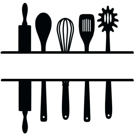 utensils silhouette at getdrawings com free for personal use rh getdrawings com cooking items clipart cooking utensils images clip art