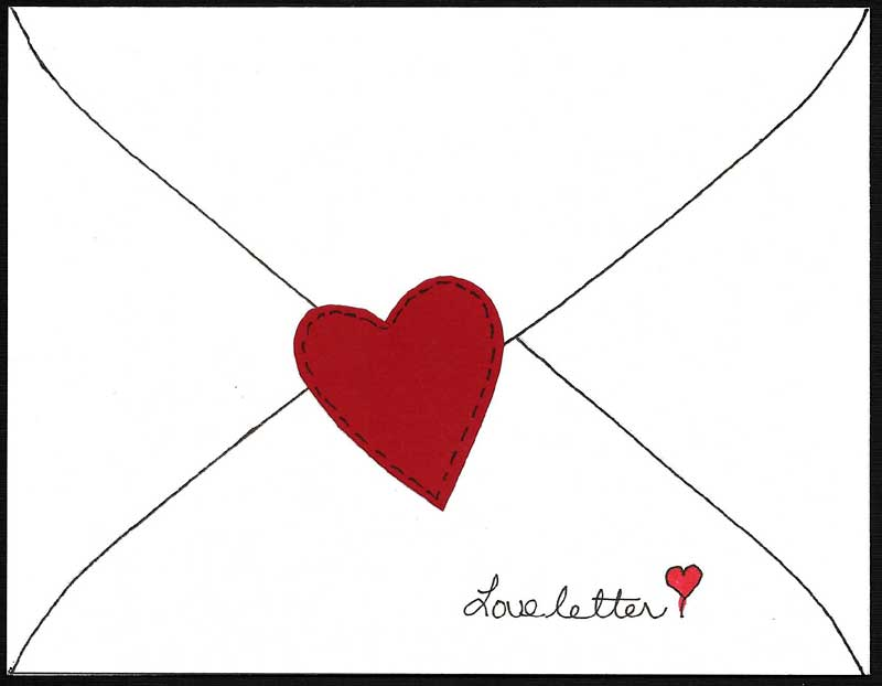 800x622 Envelope Heart Black And White Clipart