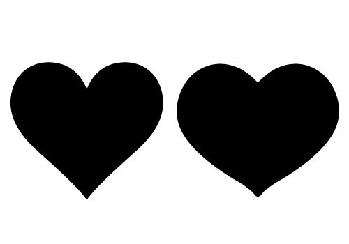 500x350 Loving Heart Silhouette Vector Free Download Silhouette Clip Art