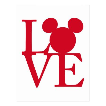 450x450 Mickey Mouse Love Valentine's Day Postcard Mickey Silhouette