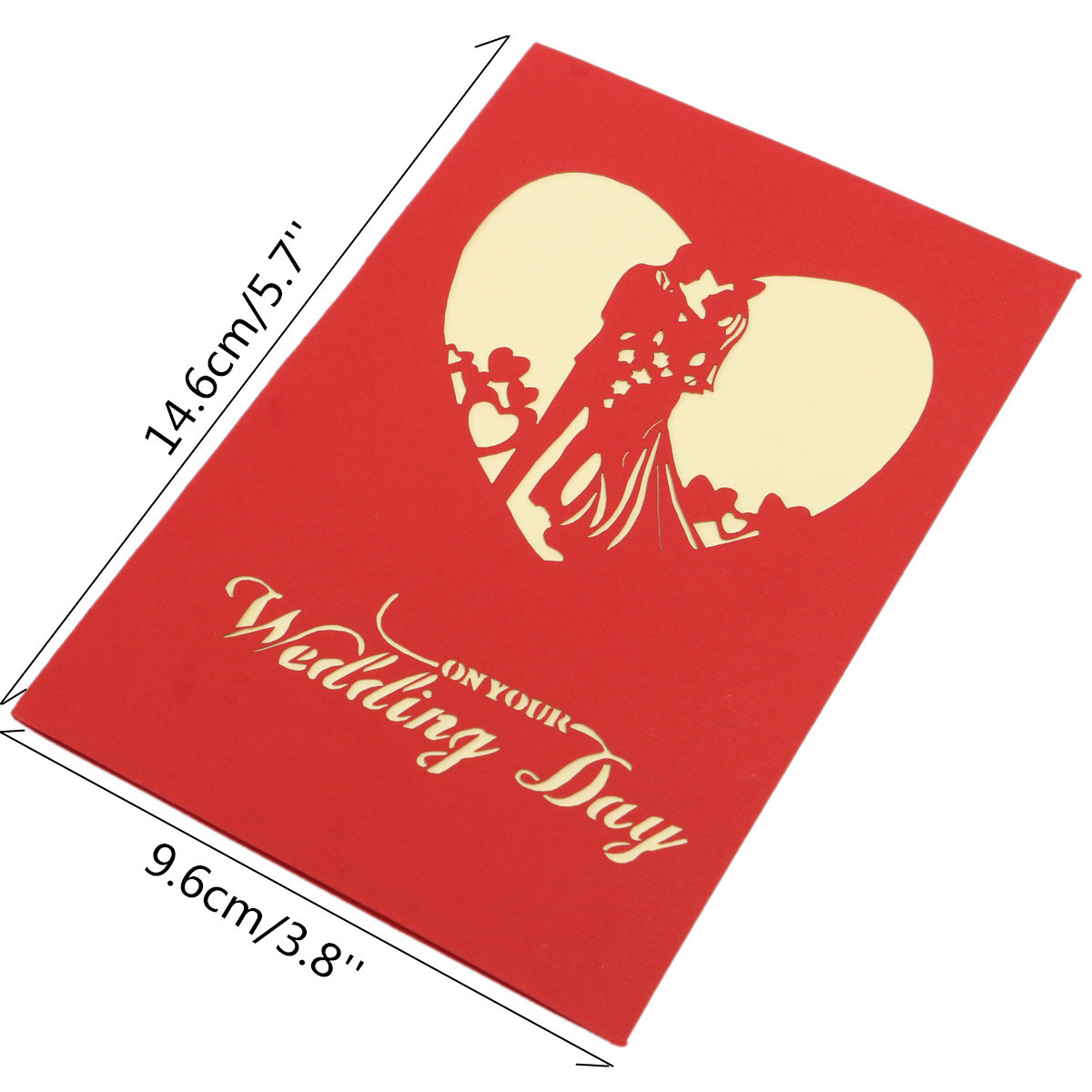 1200x1200 3d Handmade Wedding Valentines Silhouette Invitation Greeting Card