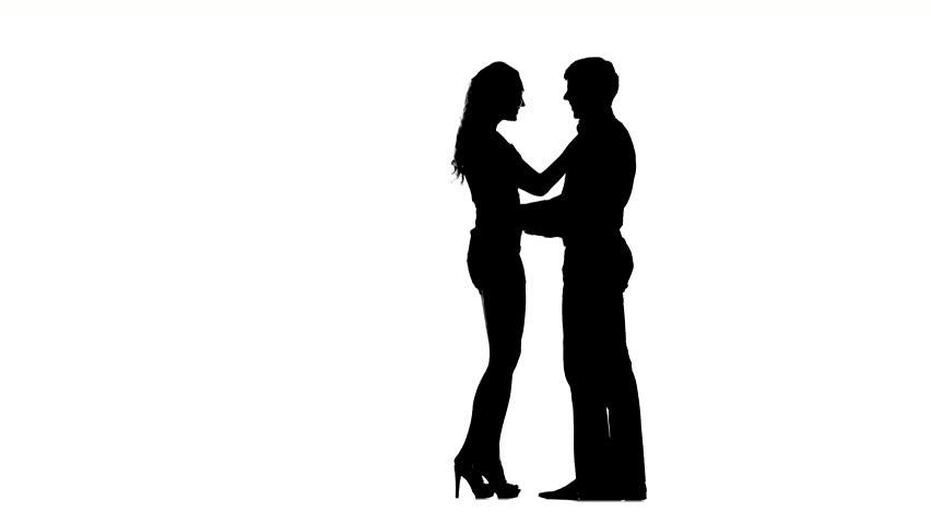852x480 Silhouette Of Couple In Love,love And Sensuality And Valentine Day