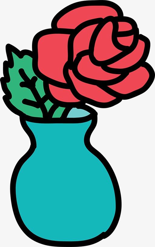 512x817 Stick Figure Vase, Cartoon Vase, Blue Vase, Silhouette Png Image