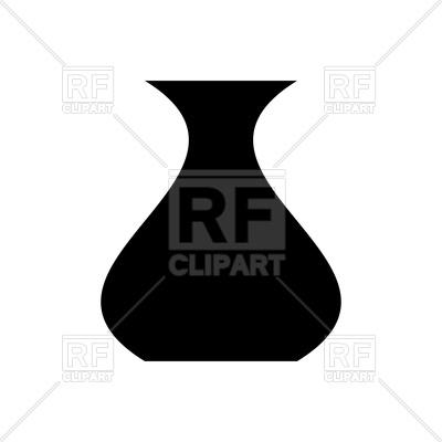 400x400 Vase Black Color Icon Royalty Free Vector Clip Art Image