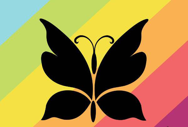 Vector Butterfly Silhouette