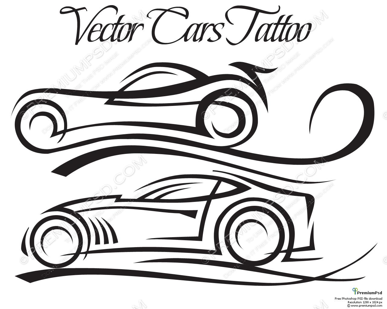 1280x1024 Vector Cars Tattoo