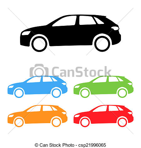 450x470 Vector Car Silhouettes. Set Of Vector Suv Car Silhouettes Stock