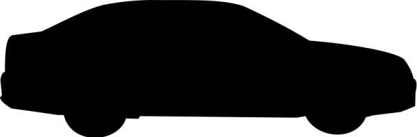 608x200 Car Silhouette Clipart