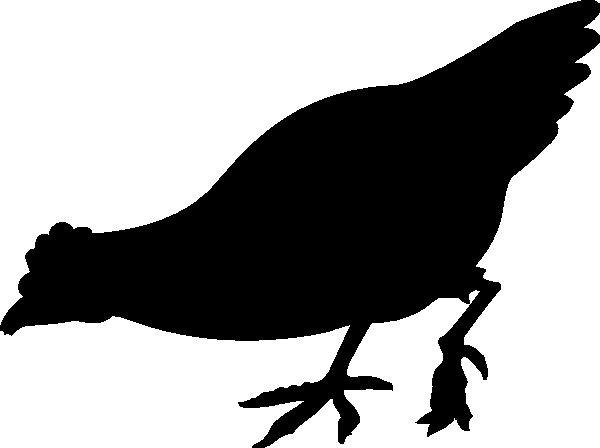 600x448 Black Eating Chicken Clip Art