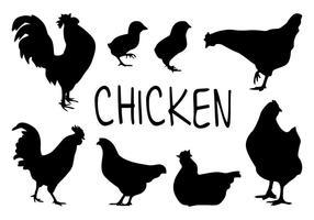 286x200 Chicken Silhouette Free Vector Art