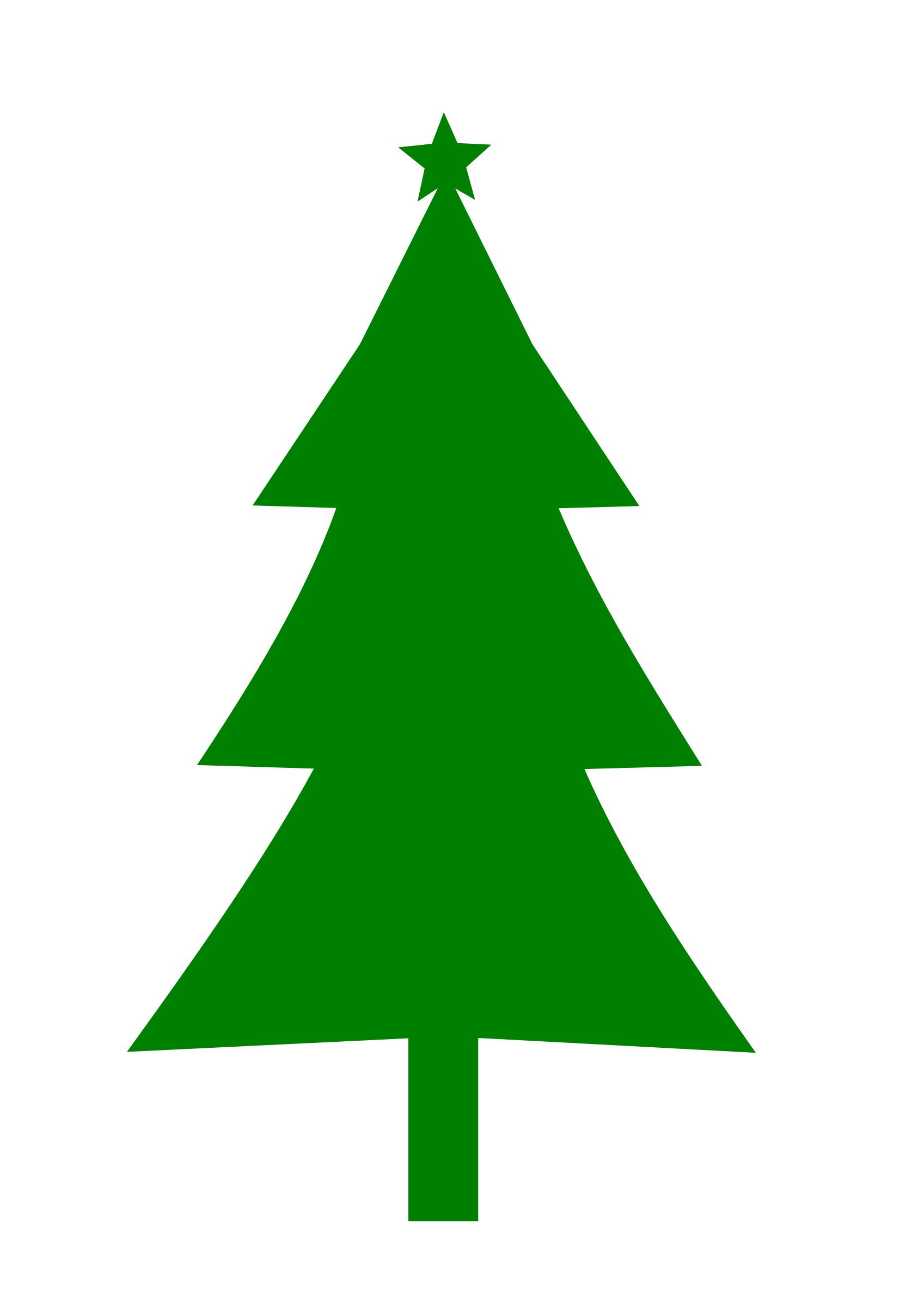Vector Christmas Tree Silhouette at GetDrawings.com | Free for ...