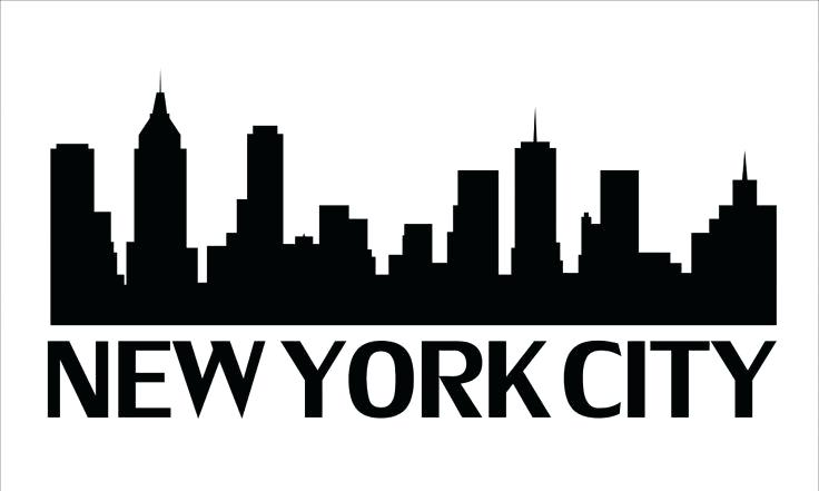 736x441 Nyc Skyline Silhouette New City Skyline Silhouette Vector Image