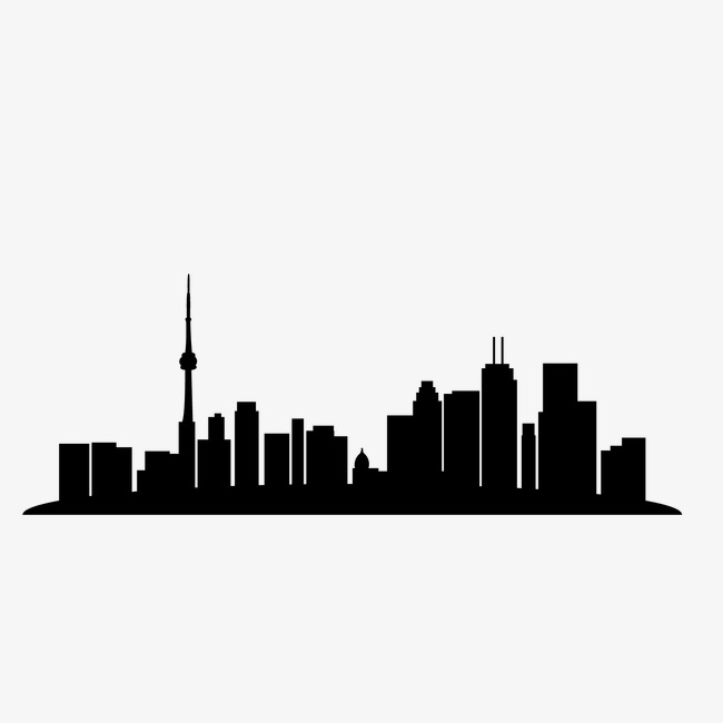 650x650 Silhouette Of City Building, Silhouette Vector, City Vector