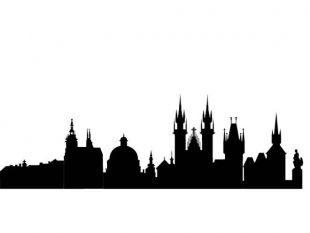 310x233 Blue City Silhouette Vector Free Vectors Ui Download