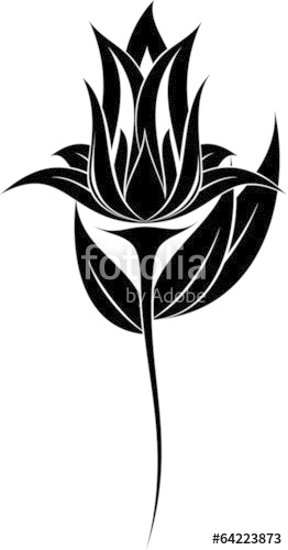 262x500 Flower Silhouette Stock Image And Royalty Free Vector Files