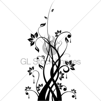 325x325 Vector Flower Pattern On White Background Gl Stock Images
