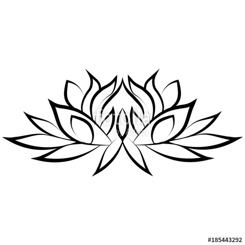 500x500 Lotus Flower Silhouette Stock Image And Royalty Free Vector Files