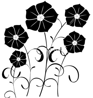 380x400 Silhouette Vector Floral