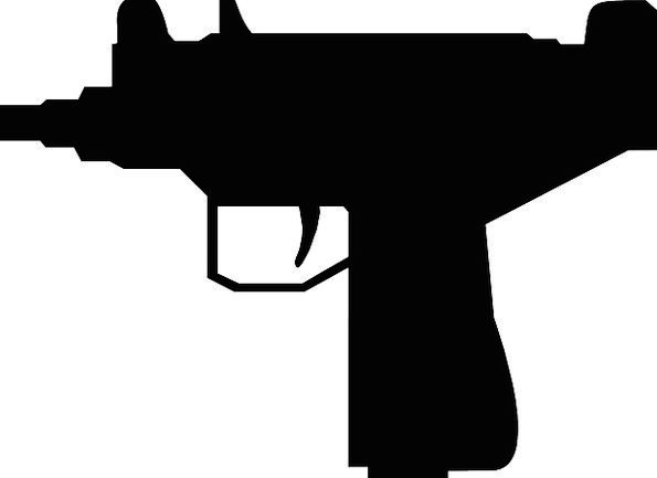 595x433 Pistol, Firearm, Mini, Small, Gun, Silhouette, Outline, Handgun