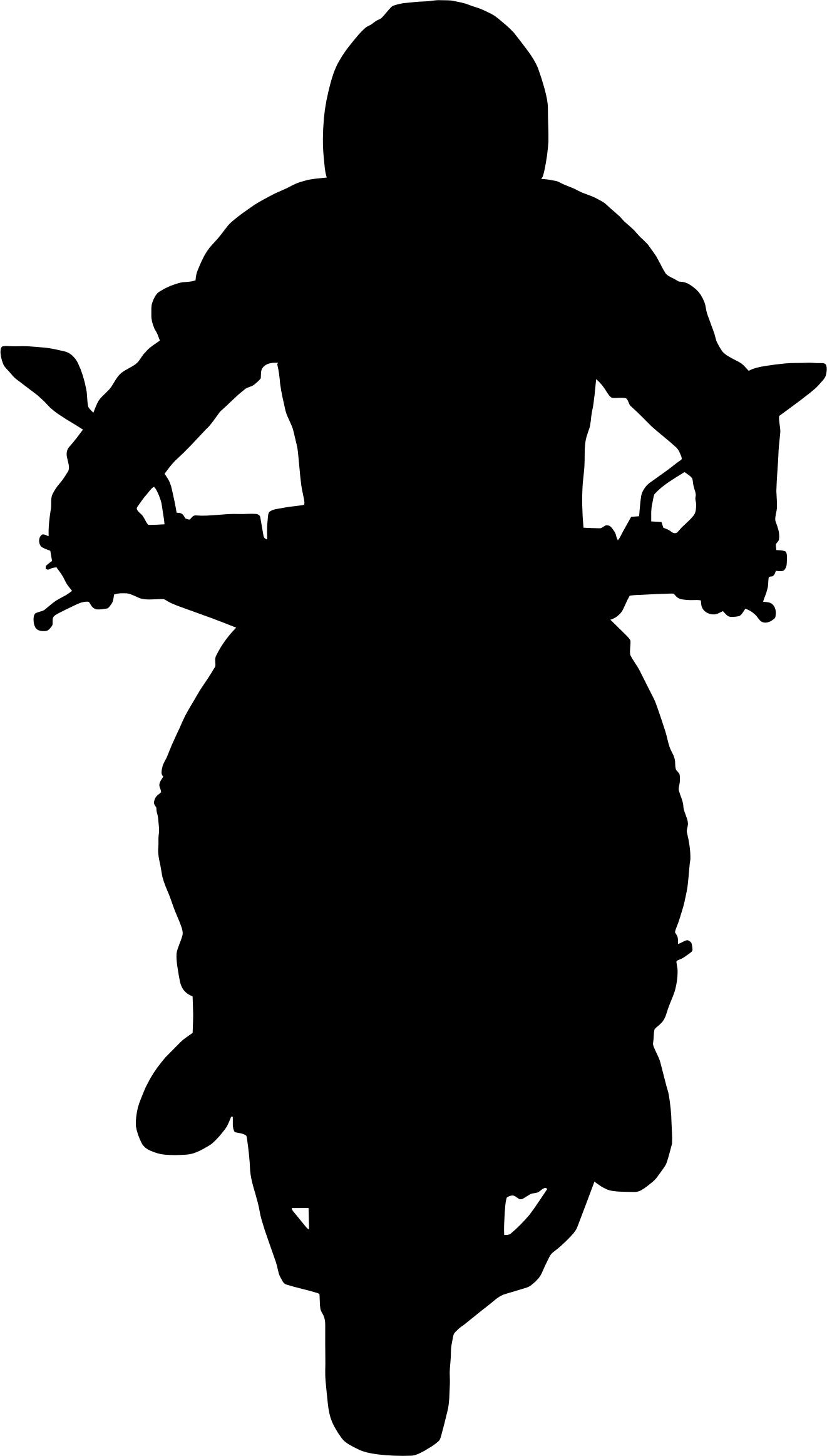 1321x2325 Man On Motorcycle Silhouette Icons Png