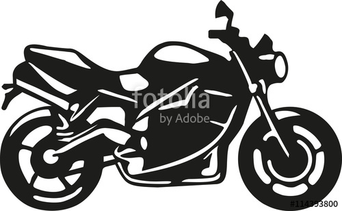 500x308 Motorbike Silhouette With Details Stock Image And Royalty Free