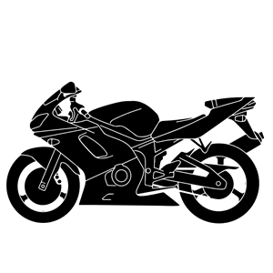 300x300 Motorcycle Silhouette Vector Clipart, Cliparts Of Motorcycle