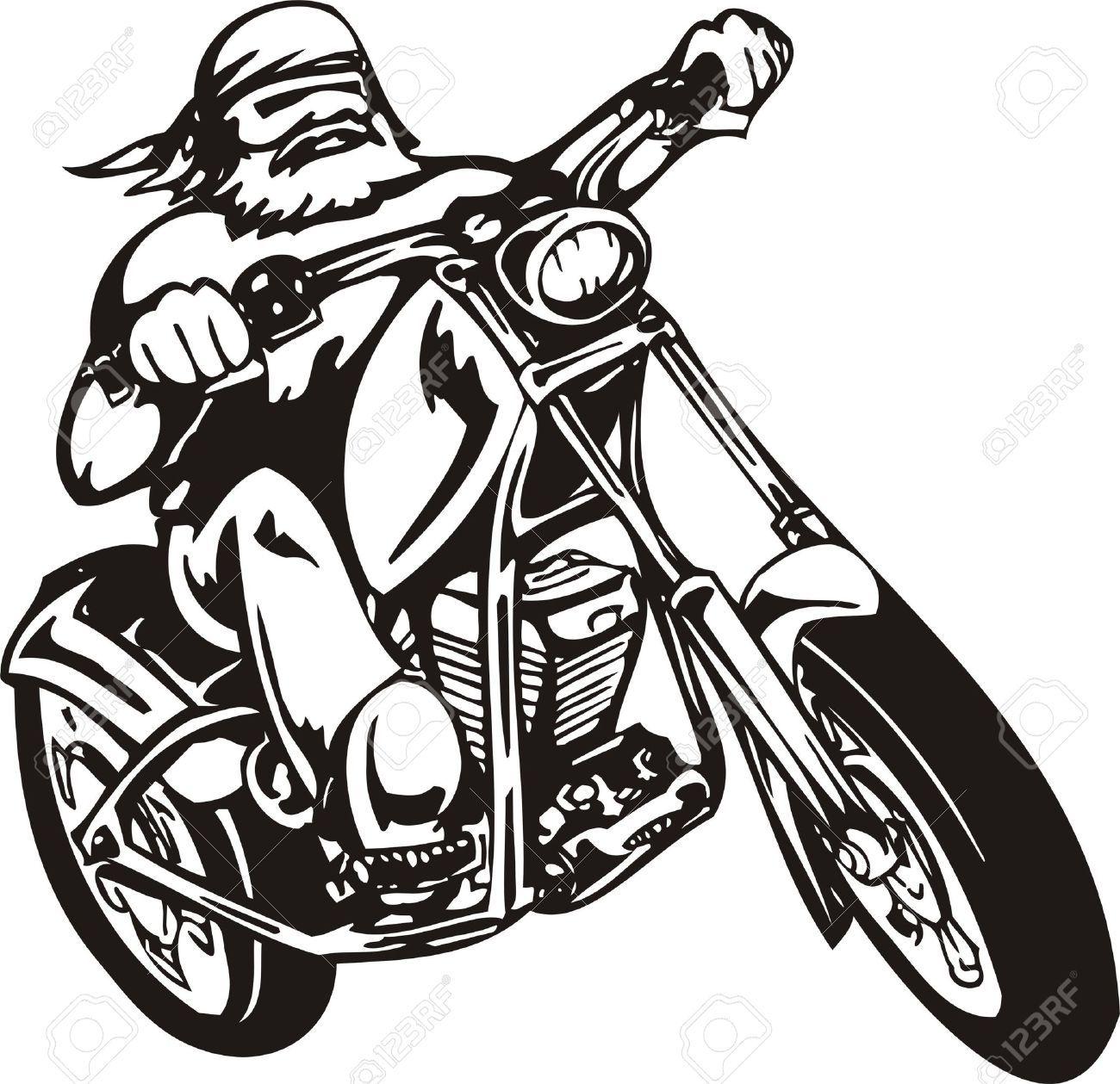 1300x1259 Motorcycle Vector Art
