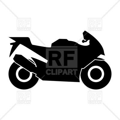 400x400 Motorcycle Black Color Icon Royalty Free Vector Clip Art Image