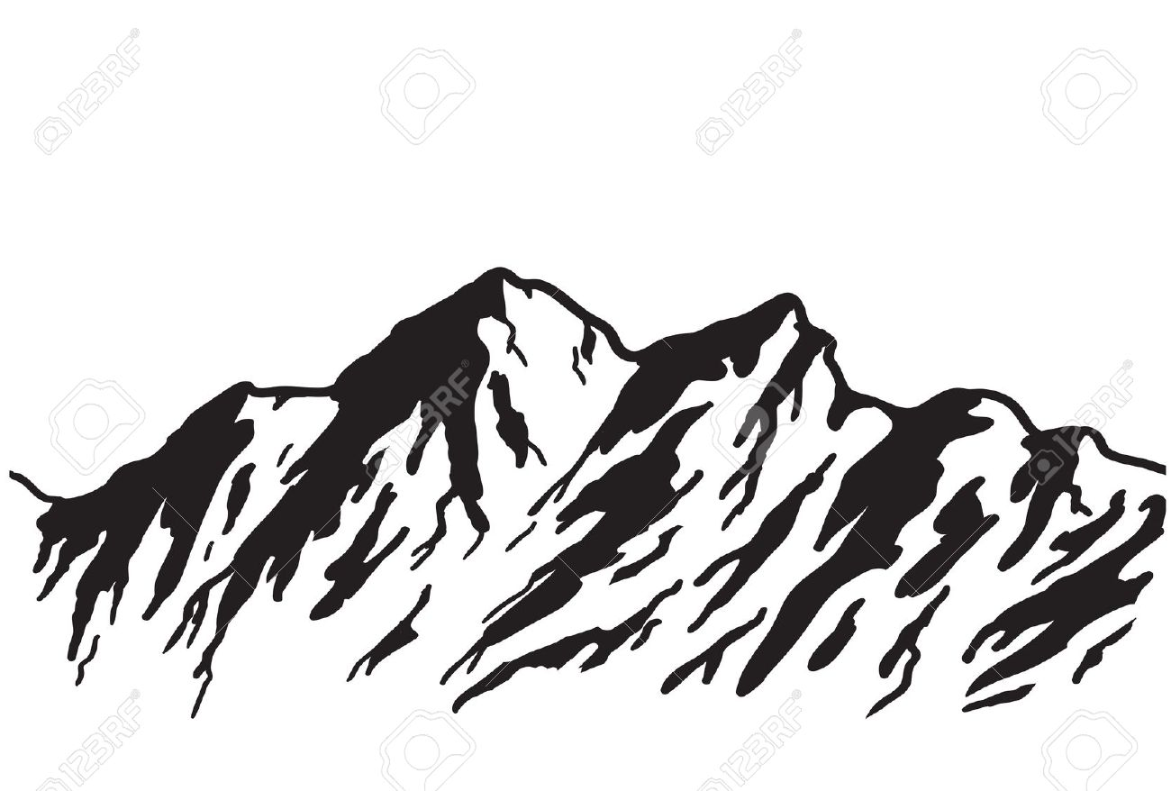 Vector Mountain Silhouette