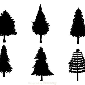 360x360 Christmas Tree Silhouettes Archives My Graphic Hunt
