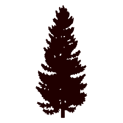 512x512 Black Pine Tree Silhouette