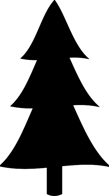 358x640 Christmas Trees Clipart Silhouette Collection