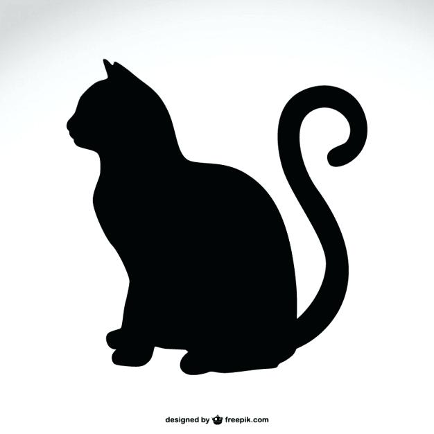 626x626 Cat Silhouette Vector Free Download Cat Silhouette Free Vector Cat