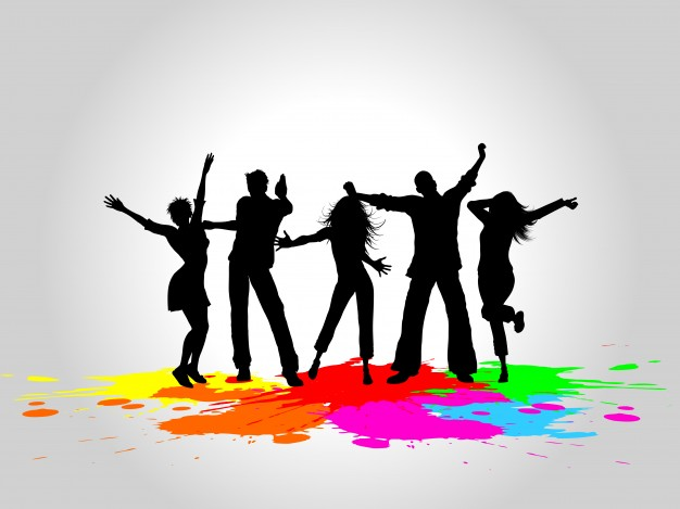 626x469 Silhouettes Of People Dancing Vector Free Download
