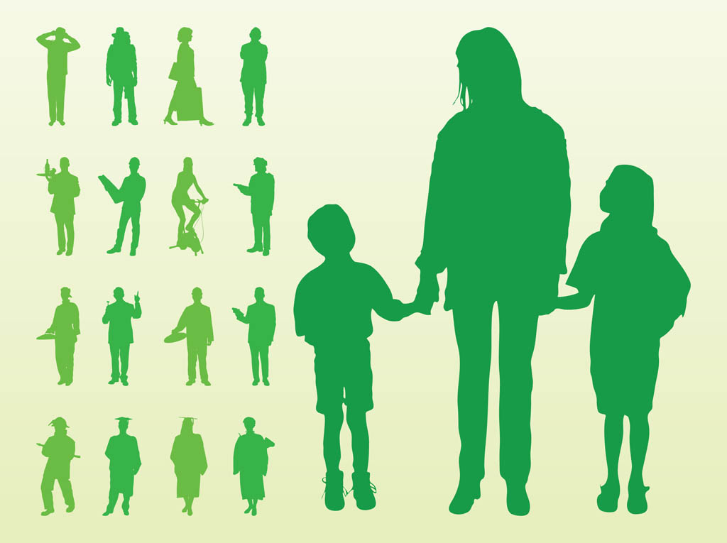 1024x765 Vector Silhouettes Of People Vector Art Amp Graphics