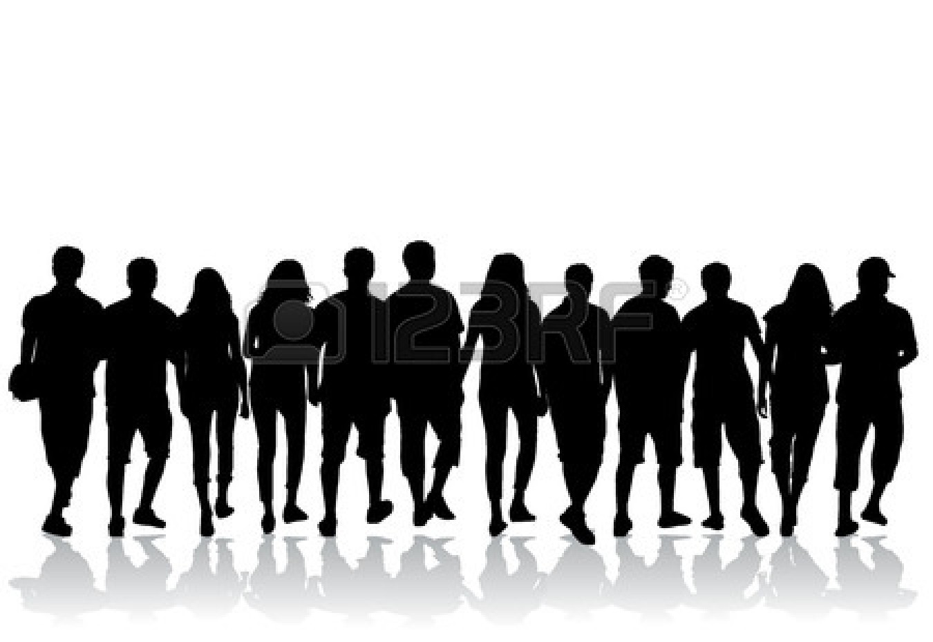 1350x930 Of People Silhouette Clipart