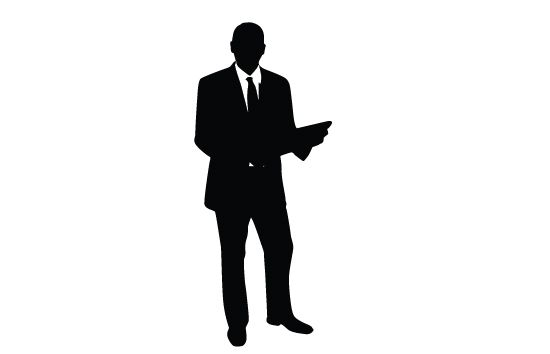 550x354 Business Man Silhouette Vector