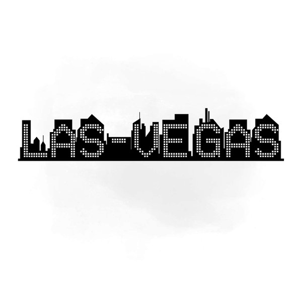 570x609 Las Vegas Skyline Svg Clipart International City Digital