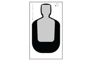 365x240 Law Enforcement Targets Tq 19l Qualification Silhouette 25 Yard