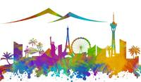 200x117 Stunning Las Vegas Skyline Digital Artwork For Sale On Fine Art