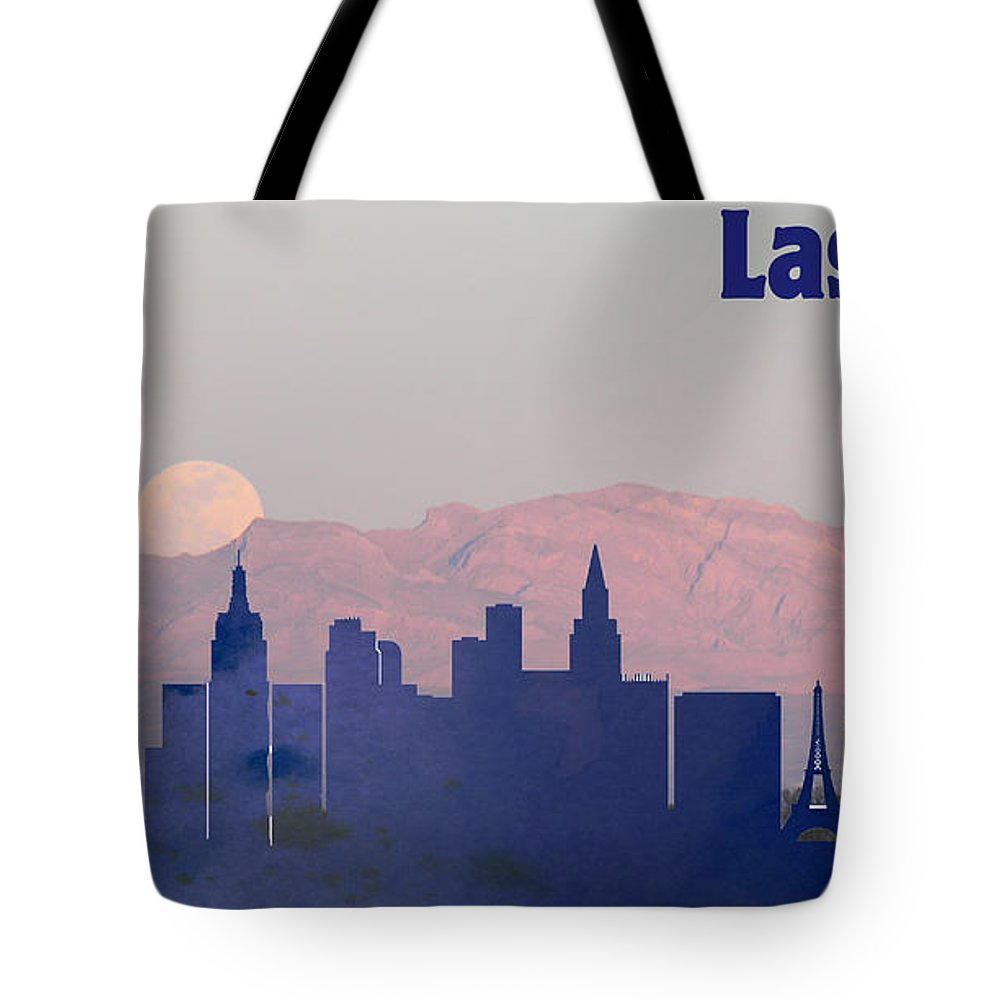 1000x1000 Las Vegas City Skylines Silhouette Tote Bag For Sale By Motionage