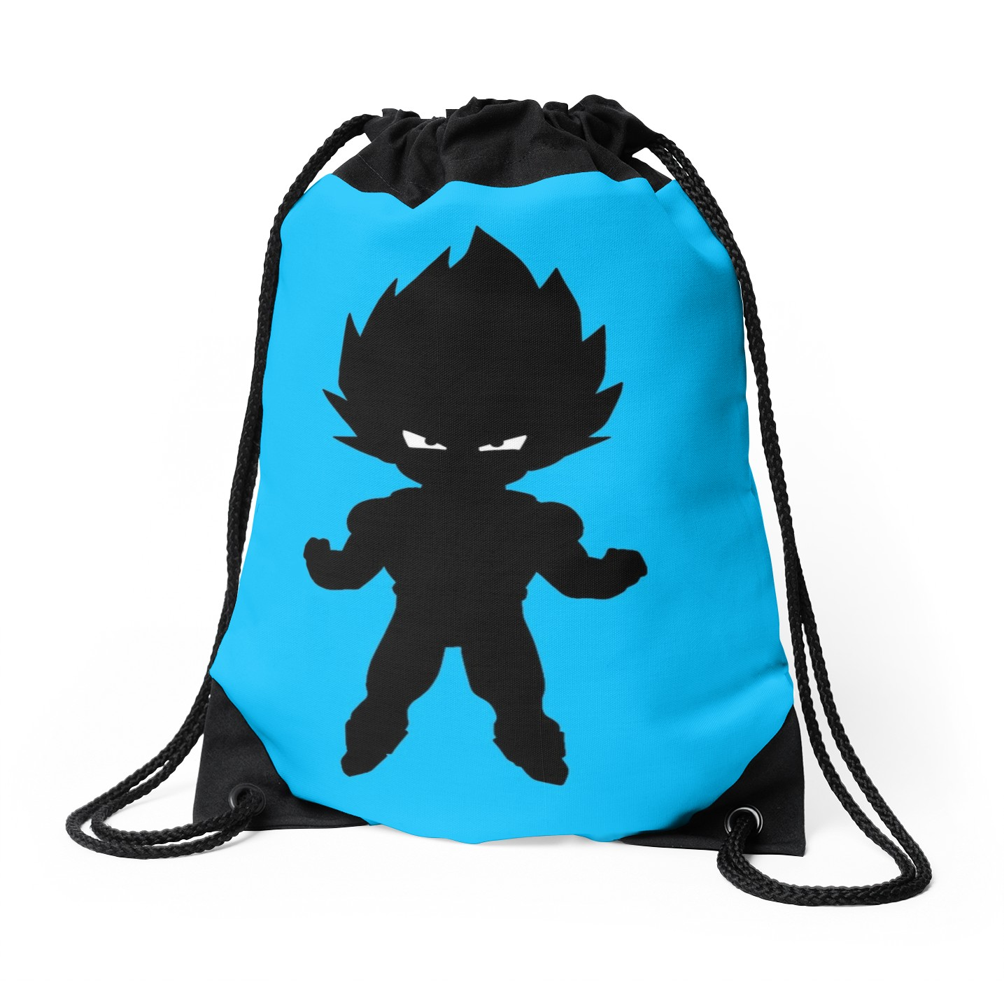 1435x1404 Vegeta Silhouetteshadow Drawstring Bags By Lotatabo Redbubble