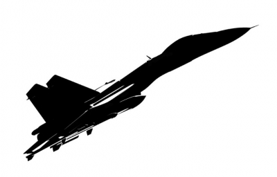 400x256 Fighter Jet Silhouette Clipart