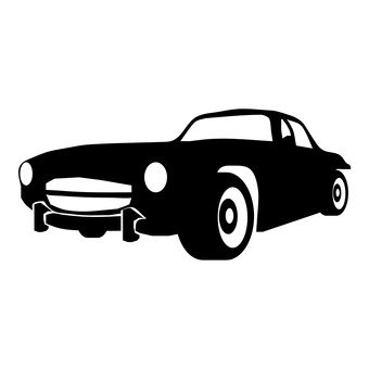 340x340 Free Silhouettes Toy, Car, Cart, Classic