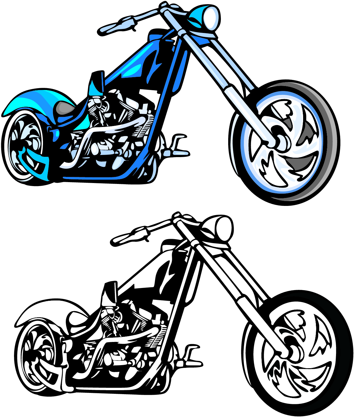 1162x1367 Motorcycle Silhouette Clipart