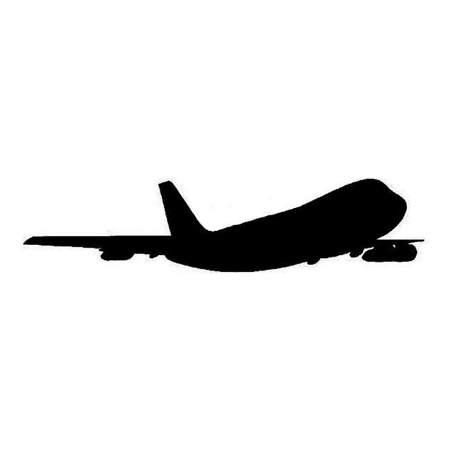 640x640 225cm Plane Silhouette Car Sticker Decal Cartoon Plane Motorcycle