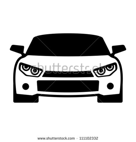 450x470 Sports Car Silhouette Front