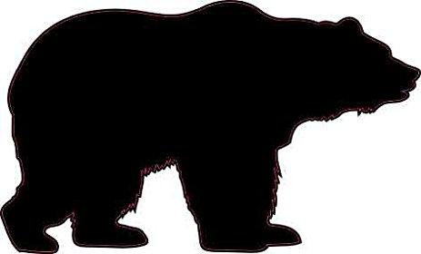 463x280 3in X 2in Bear Silhouette Sticker Vinyl Wildlife